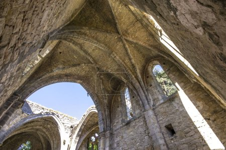 The Abbaye Sainte-Marie de Villelongue, a former Benedictine abbey in Saint-Martin-le-Vieil, Southern France