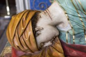 A statue of Saint Cecilia inside Albi Cathedral, France