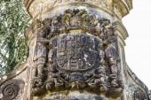 Lierganes, Spain. The Cruz de Rubalcaba, a baroque 17th century enclosure detail of the manor casona of Miera-Rubalcaba in the village of Rubalcaba, Cantabria