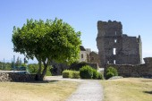 The Chateau de Saissac, a ruined castle and one of the so-called Cathar castles, north-west of Carcassonne, France