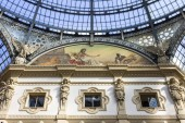 The Galleria Vittorio Emanuele II, one of the world's oldest shopping malls. Housed within a four-story double arcade, it is named after the first king of Italy