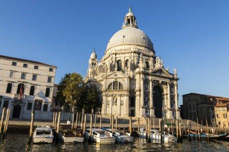 Santa Maria della Salute, a Roman Catholic church and minor basilica located at Punta della Dogana in the Dorsoduro sestiere of the city of Venice, Veneto, Italy