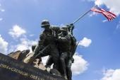 Arlington, Virginia. The United States Marine Corps War Memorial (Iwo Jima Memorial), a national memorial located in Arlington Ridge Park designed by Felix de Weldon and Horace W. Pealee