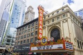 The Chicago Theatre, originally known as the Balaban and Katz Chicago Theatre, a landmark theater on North State Street in the Loop area of Chicago, Illinois, United States of America
