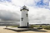 Martha's Vineyard, Massachusetts. Edgartown Harbor Light, a lighthouse located in Edgartown, where it marks the entrance to Edgartown Harbor and Katama Bay