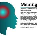 Medical infographic template. Meningitis - brain m...