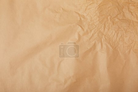 full frame shot of crumpled kraft paper for background