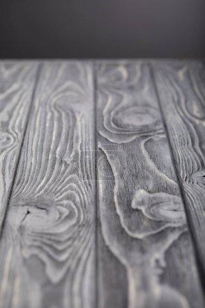 selective focus of empty wooden grey tabletop