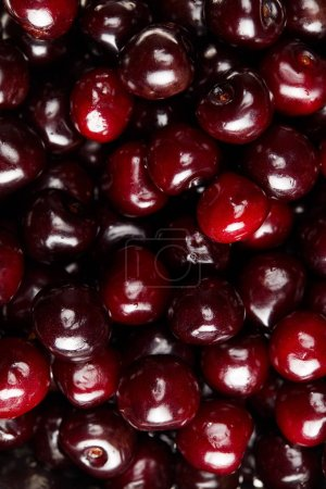 full frame shot of fresh ripe sweet cherries for background