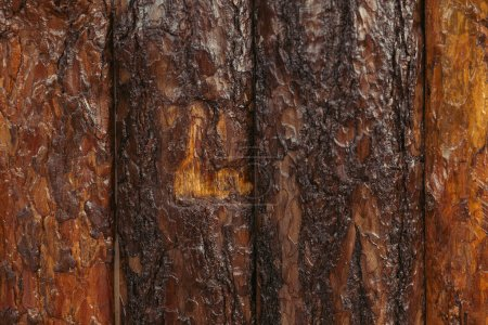 close-up view of old brown wooden planks background