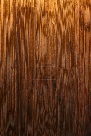 Photo for Close-up view of dark brown wooden textured background - Royalty Free Image