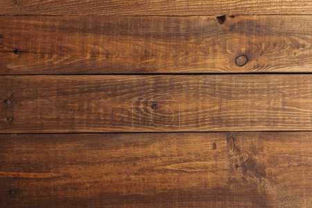 Photo for Close-up view of dark brown wooden planks background - Royalty Free Image