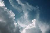 """Постер, картина, фотообои """"полный кадр изображения фона синий пасмурное небо"""""""