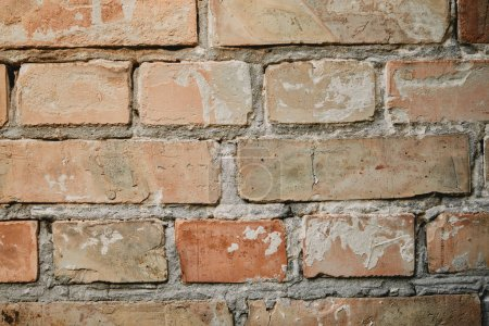Photo for Full frame image of old brick wall with cement background - Royalty Free Image