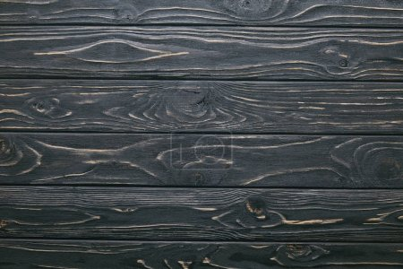 Photo for Dark wooden table planks background - Royalty Free Image