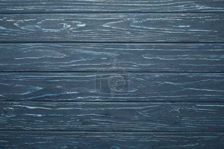 top view of dark wooden background with horizontal planks