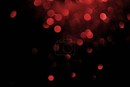 red decorative bokeh on black background