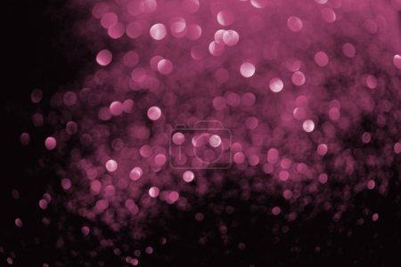 Photo pour Abstrait avec des paillettes rose rougeoyante floue - image libre de droit