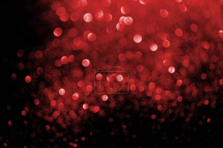 Photo for Abstract background with blurred glowing red glitter - Royalty Free Image