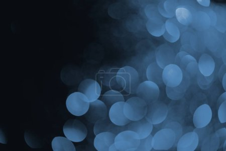 Photo for Abstract dark background with beautiful blue bokeh - Royalty Free Image