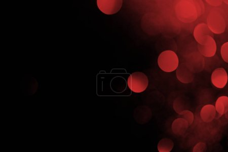 abstract dark background with beautiful red bokeh