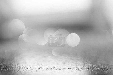 Photo pour Abstrait lumineux flou argent fond festif - image libre de droit
