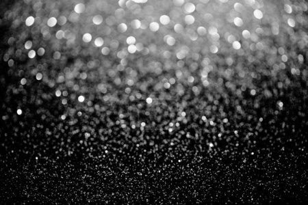 Photo pour Étincelle argentée texture floue paillettes, fond de vacances - image libre de droit