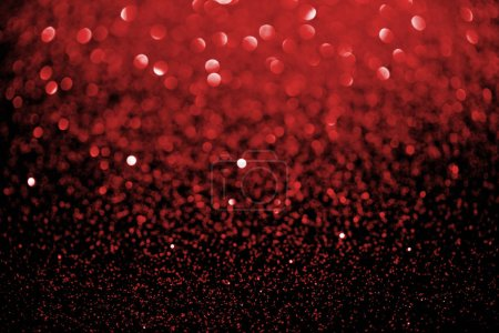 Photo for Red blurred glitter texture, holiday background - Royalty Free Image