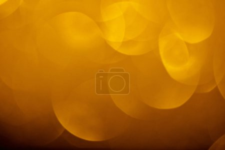 close up of abstract bokeh golden background