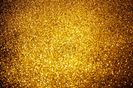 Abstract background with shiny gold glitter decor...