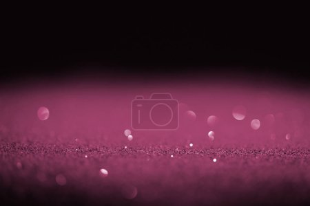 Photo for Sparking purple glitter with bokeh on black background - Royalty Free Image