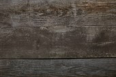 top view of rustic wooden background with horizontal planks