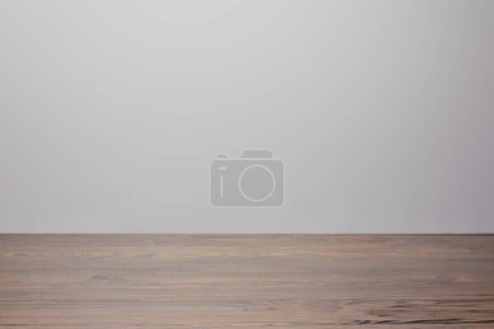 Wooden gray tabletop isolated on white