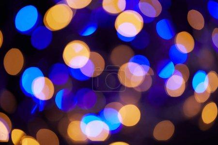 Foto de Fondo de Navidad hermoso bokeh azul y amarillo - Imagen libre de derechos