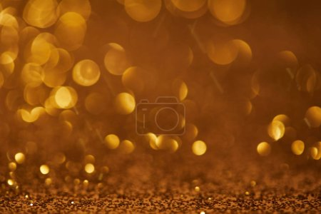 golden bokeh christmas background with glitter