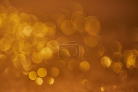 Photo for Golden glittering bokeh christmas background - Royalty Free Image