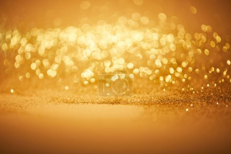 Photo for Bokeh christmas background with golden glitter - Royalty Free Image
