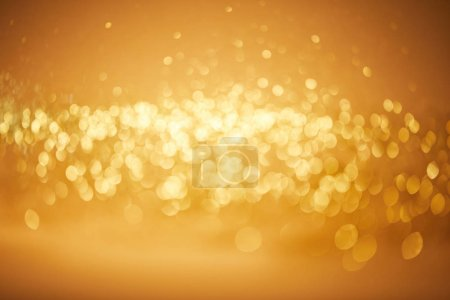 blurred golden bokeh christmas background