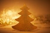 golden glittering christmas tree for decoration