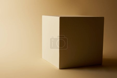 close-up shot of cube on beige surface