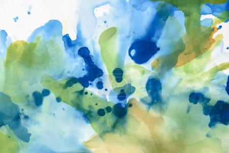 schöne grüne und blaue Farbtupfer als abstrakter Hintergrund