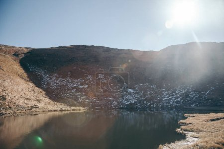 beautiful Nesamovyte lake in Carpathian mountains, Ukraine