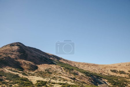 scenic view of beautiful mountain under blue sky, Carpathians, Ukraine