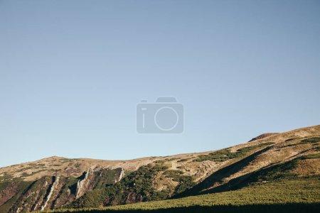 beautiful mountains landscape under clear sky, Carpathians, Ukraine