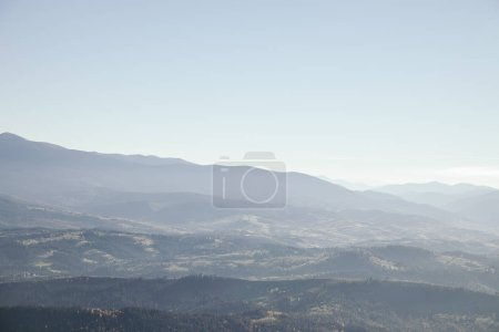 foggy mountains landscape, Carpathians, Ukraine