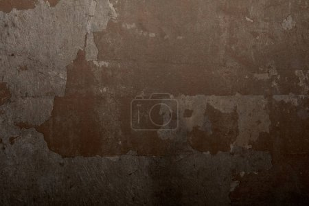 full frame of dark brown concrete wall as background