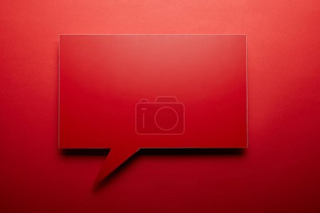empty speech bubble in red color on red background