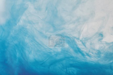 abstract texture with blue mixing paint