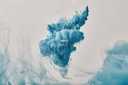 abstract backdrop with blue paint splash