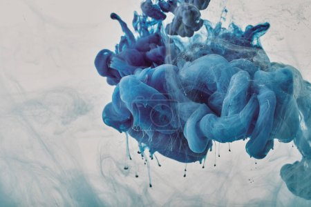 background with blue smoky paint splash